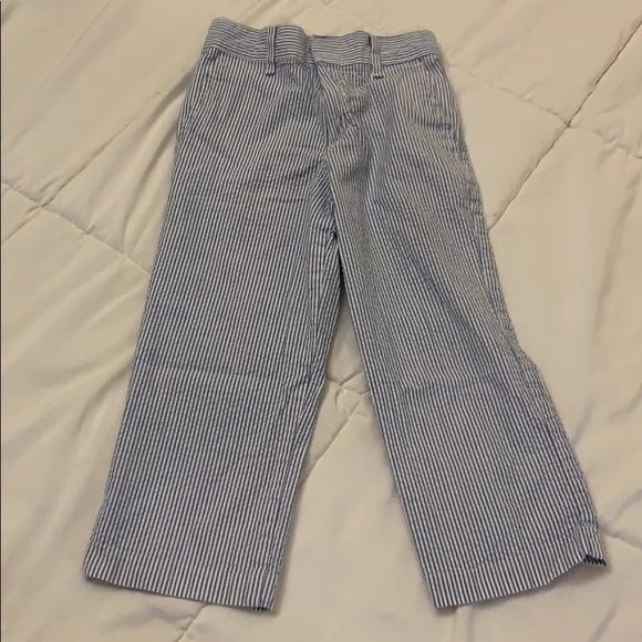 IZOD Boys Seersucker Flat Front Dress Pant